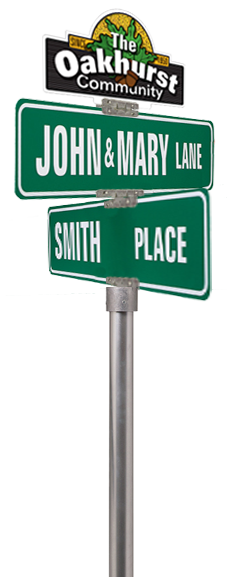 Mockup of street sign topper